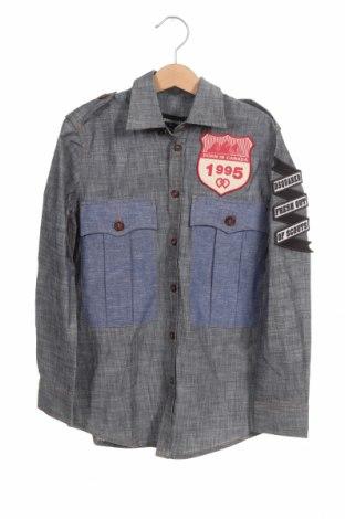 Детска риза Dsquared2, Размер 7-8y/ 128-134 см, Цвят Син, Памук, Цена 66,15лв.