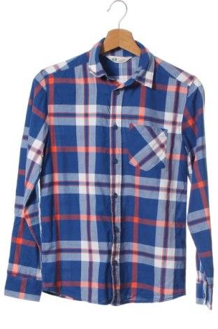 Παιδικό πουκάμισο H&M, Μέγεθος 11-12y/ 152-158 εκ., Χρώμα Μπλέ, 100% βαμβάκι, Τιμή 6,23€