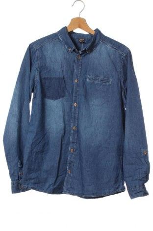 Παιδικό πουκάμισο Y.F.K., Μέγεθος 15-18y/ 170-176 εκ., Χρώμα Μπλέ, Βαμβάκι, Τιμή 10,13€