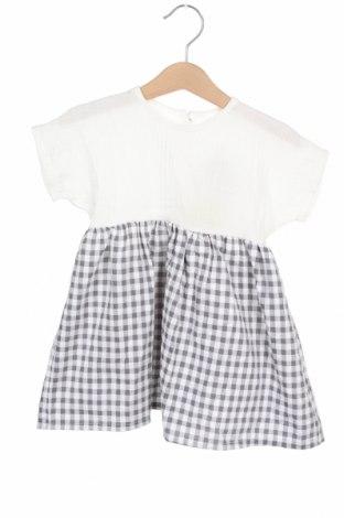 Детска рокля Little Celebs, Размер 18-24m/ 86-98 см, Цвят Бял, Памук, Цена 7,08лв.