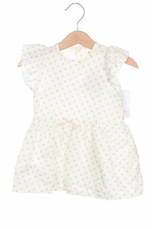 Rochie pentru copii Little Celebs, Mărime 9-12m/ 74-80 cm, Culoare Alb, 55% bumbac, 45% in, Preț 36,61 Lei