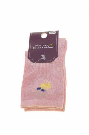 Ciorapi pentru copii Sergent Major, Mărime 5-6y/ 116-122 cm, Culoare Roz, 74% viscoză, 21% poliamidă, 3% fire din metal, 2% elastan, Preț 36,19 Lei