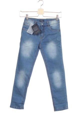 Детски дънки Blue Seven, Размер 7-8y/ 128-134 см, Цвят Син, 75% памук, 24% полиестер, 1% еластан, Цена 19,47лв.