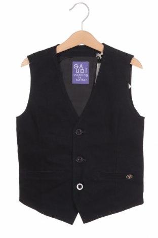 Детски елек Gaudi, Размер 7-8y/ 128-134 см, Цвят Син, 97% памук, 3% еластан, Цена 33,82лв.