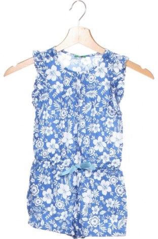 Salopetă pentru copii. United Colors Of Benetton, Mărime 3-4y/ 104-110 cm, Culoare Albastru, Viscoză, Preț 77,37 Lei