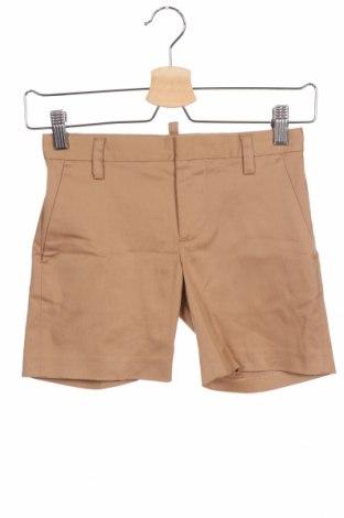 Детски къс панталон Dsquared2, Размер 7-8y/ 128-134 см, Цвят Бежов, 98% памук, 2% еластан, Цена 64,26лв.