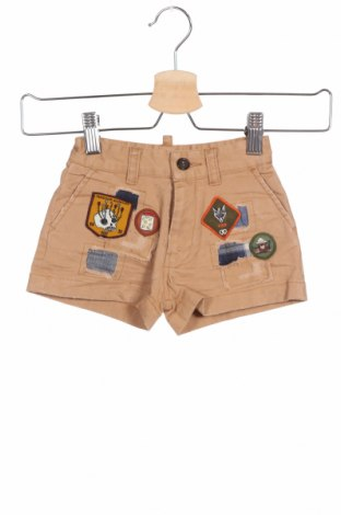 Pantaloni scurți pentru copii Dsquared2, Mărime 3-6m/ 62-68 cm, Culoare Bej, 98% bumbac, 2% elastan, Preț 111,91 Lei