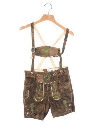 Dětské krátké kalhoty  Isar-Trachten, Velikost 3-4y/ 104-110 cm, Barva Zelená, Přírodní velur , Cena  872,00Kč