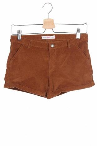 Pantaloni scurți pentru copii Lefties, Mărime 11-12y/ 152-158 cm, Culoare Maro, 98% bumbac, 2% elastan, Preț 30,52 Lei