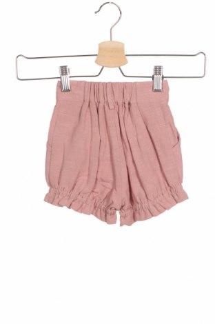 Детски къс панталон Little Celebs, Размер 18-24m/ 86-98 см, Цвят Розов, 60% вискоза, 40% лен, Цена 36,75лв.