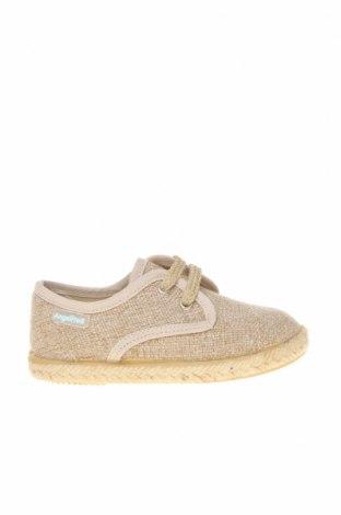Детски обувки Angelitos, Размер 22, Цвят Бежов, Текстил, Цена 22,05лв.