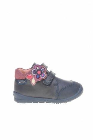 Детски обувки Garvalin, Размер 21, Цвят Син, Естествена кожа, Цена 66,75лв.