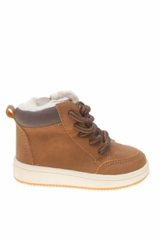 Детски обувки H&M, Размер 18, Цвят Кафяв, Еко кожа, Цена 23,10лв.