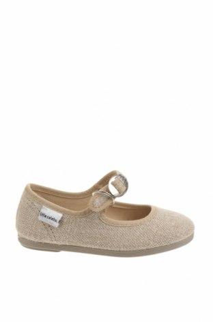 Детски обувки Little Celebs, Размер 24, Цвят Бежов, Текстил, Цена 13,72лв.