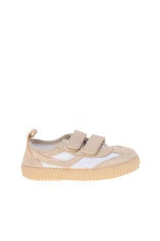 Детски обувки Little Celebs, Размер 22, Цвят Бежов, Естествен велур, текстил, Цена 15,24лв.