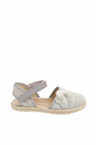 Детски сандали Lola Palacios, Размер 24, Цвят Бежов, Текстил, естествен велур, Цена 18,17лв.