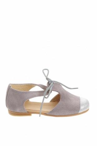 Детски обувки Lola Palacios, Размер 24, Цвят Сив, Естествен велур, текстил, Цена 33,97лв.