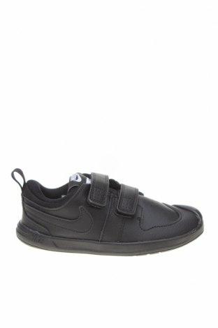 Детски обувки Nike, Размер 27, Цвят Черен, Естествена кожа, еко кожа, Цена 61,00лв.
