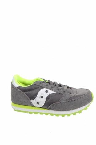 Детски обувки Saucony, Размер 31, Цвят Сив, Естествен велур, еко кожа, текстил, Цена 70,95лв.