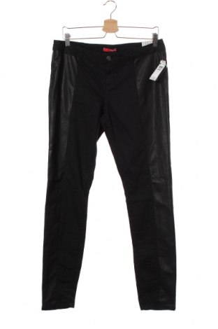 Детски панталон Bongo, Размер 12-13y/ 158-164 см, Цвят Черен, Еко кожа, памук, полиестер, еластан, Цена 17,06лв.