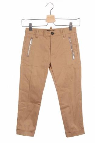 Pantaloni pentru copii Dsquared2, Mărime 7-8y/ 128-134 cm, Culoare Bej, 98% bumbac, 2% elastan, Preț 188,88 Lei