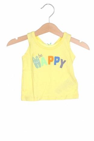 Детски потник United Colors Of Benetton, Размер 2-3m/ 56-62 см, Цвят Жълт, Памук, Цена 11,20лв.