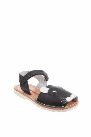 Детски сандали Little Celebs, Размер 25, Цвят Черен, Естествена кожа, Цена 40,02лв.