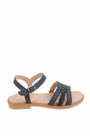 Детски сандали Lola Palacios, Размер 25, Цвят Син, Естествен велур, естествена кожа, Цена 26,07лв.