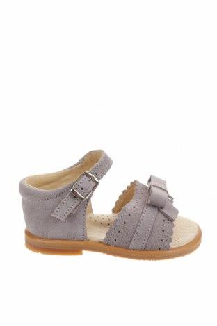 Детски сандали Lola Palacios, Размер 19, Цвят Сив, Естествен велур, Цена 26,07лв.