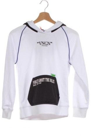 Детски суичър Vingino, Размер 11-12y/ 152-158 см, Цвят Бял, 70% памук, 30% полиестер, Цена 23,70лв.