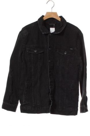 Geacă de blugi, pentru copii Zara, Mărime 9-10y/ 140-146 cm, Culoare Negru, Bumbac, Preț 34,82 Lei
