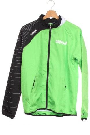 Детско спортно яке Kempa, Размер 13-14y/ 164-168 см, Цвят Зелен, Полиестер, Цена 12,86лв.