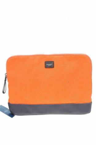 Калъф за лаптоп Hackett, Цвят Оранжев, Текстил, Цена 64,07лв.