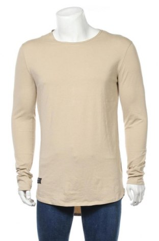 Ανδρική μπλούζα Bershka, Μέγεθος L, Χρώμα  Μπέζ, 95% βαμβάκι, 5% ελαστάνη, Τιμή 7,73€