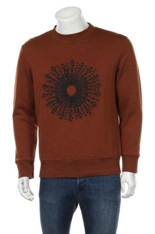 Ανδρική μπλούζα H&M, Μέγεθος S, Χρώμα Καφέ, 60% πολυεστέρας, 40% βαμβάκι, Τιμή 4,68€