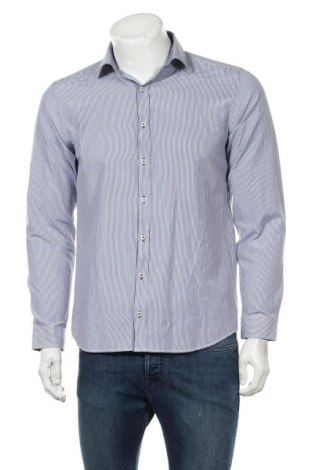 Мъжка риза Angelo Litrico, Размер M, Цвят Син, 50% памук, 50% полиестер, Цена 5,89лв.