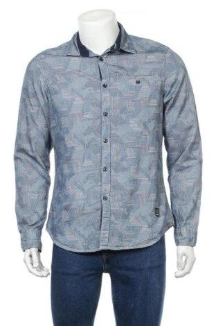 Мъжка риза Angelo Litrico, Размер M, Цвят Син, Памук, Цена 15,17лв.