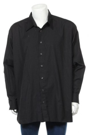 Мъжка риза Angelo Litrico, Размер 3XL, Цвят Черен, 55% памук, 45% полиестер, Цена 25,88лв.