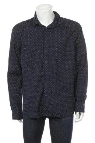Мъжка риза Angelo Litrico, Размер XXL, Цвят Син, 65% полиестер, 35% памук, Цена 17,96лв.