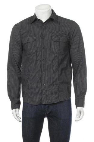 Мъжка риза Angelo Litrico, Размер S, Цвят Черен, 67% полиестер, 33% памук, Цена 6,24лв.
