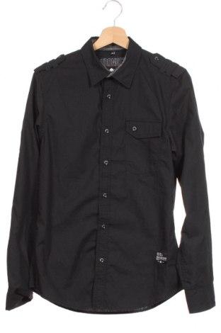 Мъжка риза Angelo Litrico, Размер S, Цвят Черен, 65% полиестер, 35% памук, Цена 6,05лв.