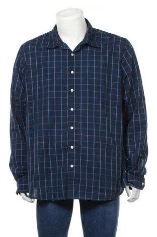 Мъжка риза Angelo Litrico, Размер XXL, Цвят Син, 65% полиестер, 35% памук, Цена 16,07лв.