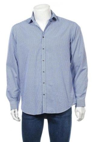 Мъжка риза Angelo Litrico, Размер M, Цвят Син, 60% памук, 40% полиестер, Цена 6,43лв.