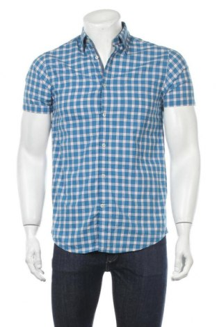Мъжка риза Cortefiel, Размер S, Цвят Син, 100% памук, Цена 13,00лв.