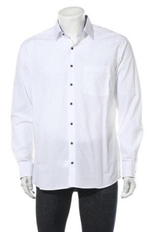 Мъжка риза Eterna, Размер L, Цвят Бял, Памук, Цена 33,30лв.