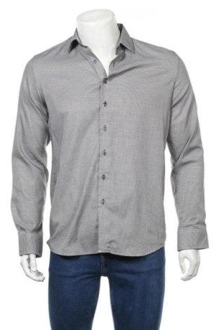 Мъжка риза Eterna, Размер M, Цвят Сив, 98% памук, 2% еластан, Цена 6,43лв.