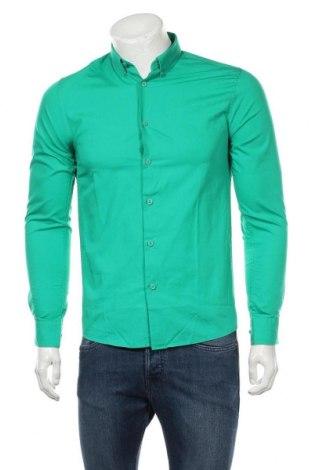 Ανδρικό πουκάμισο Only & Sons, Μέγεθος S, Χρώμα Πράσινο, Βαμβάκι, Τιμή 8,08€