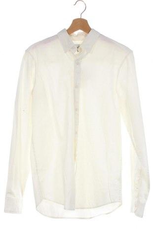 Ανδρικό πουκάμισο Pull&Bear, Μέγεθος S, Χρώμα Εκρού, Βαμβάκι, Τιμή 8,84€