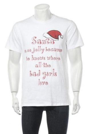 Мъжка тениска, Размер M, Цвят Бял, Памук, Цена 13,65лв.