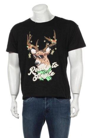 Мъжка тениска, Размер L, Цвят Черен, Памук, Цена 30,45лв.